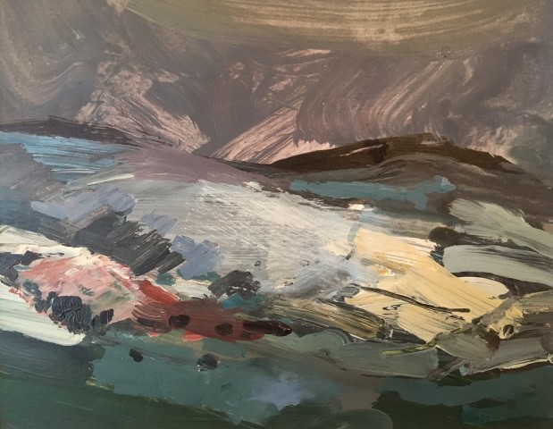 Sarah Carvell, Snow Storm over the Clwydians