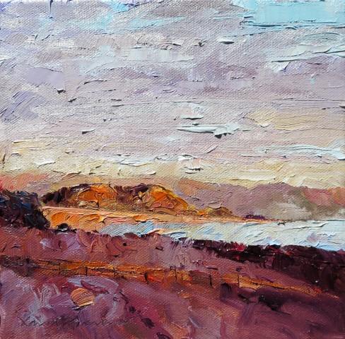 David Grosvenor, Evening Light, Black Rock, Criccieth