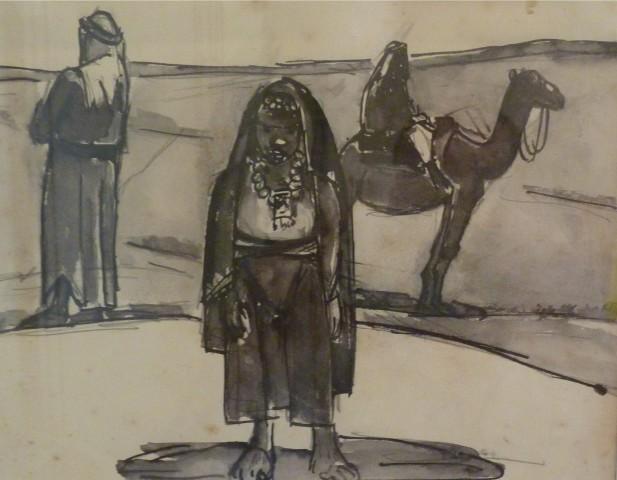 Josef Herman, Egyptian Life, c1950
