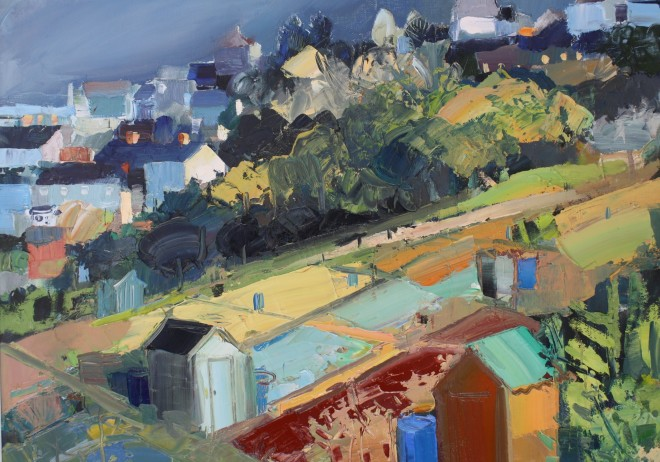 Sarah Carvell, Shadows and Sunlight on the Allotments