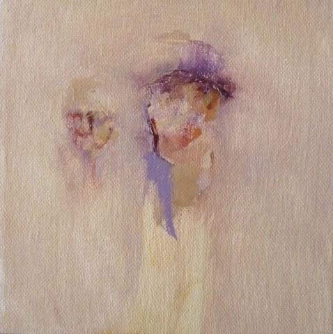 Elfyn Jones, 2 Figures, Watching and Waiting