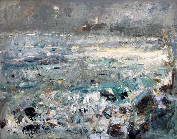Gareth Parry, Ar ôl y Ddrycin, Llanddwyn, Môn / After the Storm, Llanddwyn, Môn