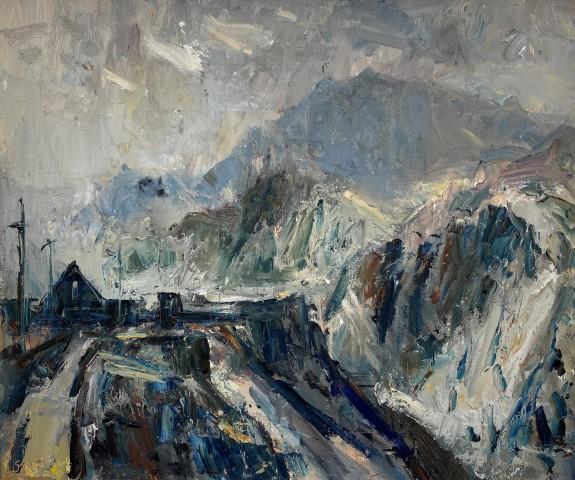 Gareth Parry, Y Grib Goch o Chwarel Dinorwig / Crib Goch from Dinorwig Quarry