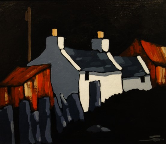Stephen John Owen, Moonlit Cottage
