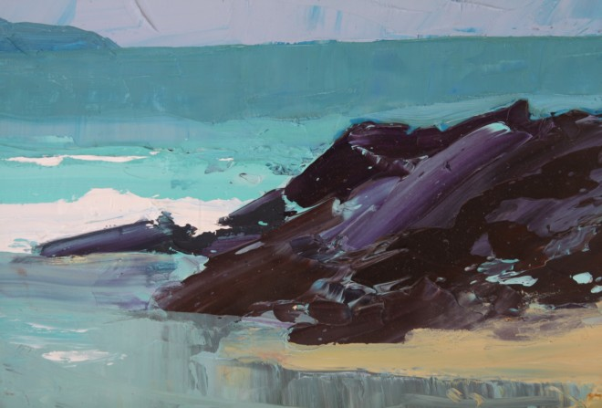 Sarah Carvell, Rocks on the Beach, Spring Tide