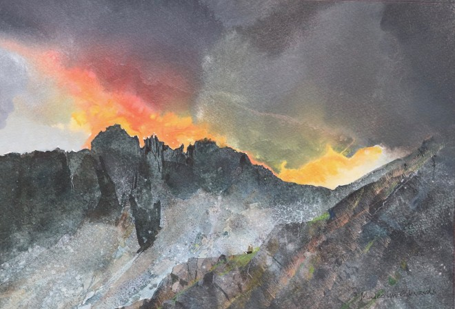 Malcolm Edwards, Sundown, Crib Goch Pinnacles