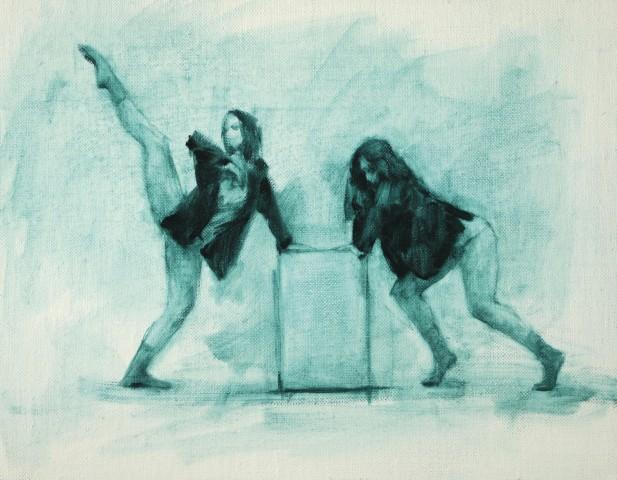 Carl Chapple, Beth Meadway & Izzy Holland (Ballet Cymru Rehearsal 200)