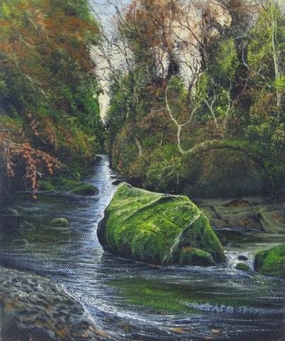 Gerald Dewsbury, River Rock, Padog. Afon Conwy