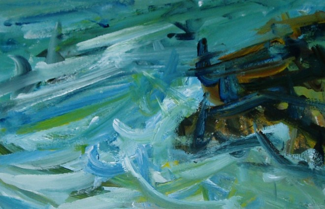 Peter Prendergast, Turbulent Sea, Anglesey, 2001
