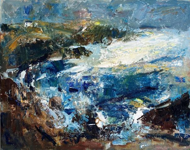 Gareth Parry, Creigiau, Môr a Haul, Gwanwyn (Llŷn) / Sea Cliffs, The Sea and Sun (Llŷn)