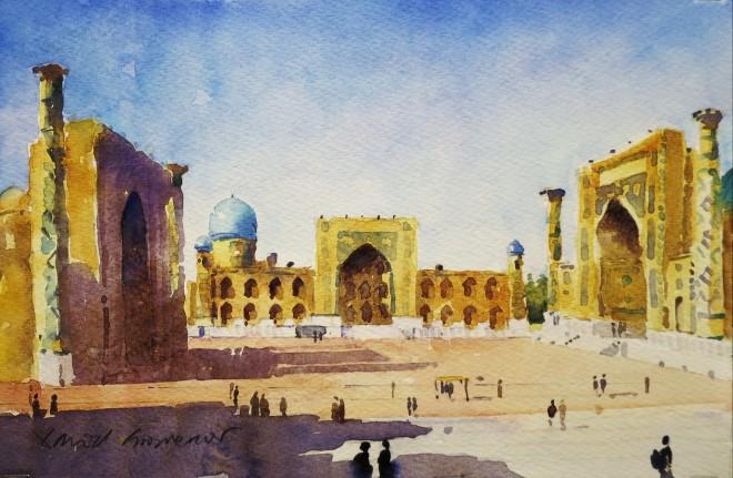 David Grosvenor, Ragistan Square, Samarkand, Uzbekistan