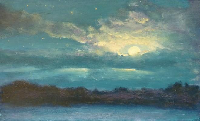 David Lloyd Griffith, Moonlight Sky over Betws yn Rhos