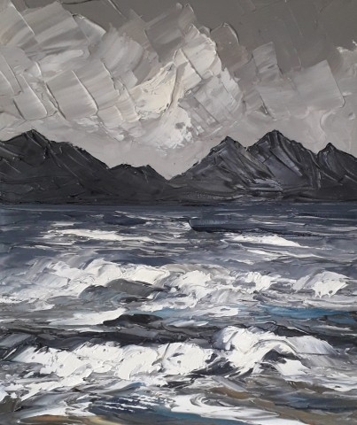 Martin Llewellyn, Snowdonia from Newborough Beach