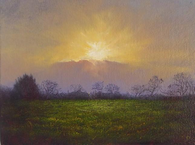 Gerald Dewsbury, Sunset from Henblas