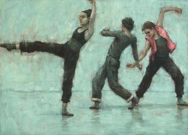 Carl Chapple, Romy Adair, Reetta Riikonen & Erin Atkinson (Ballet Cymru Rehearsal 205)