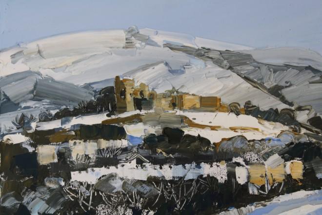 Sarah Carvell, Denbigh Castle in Snow