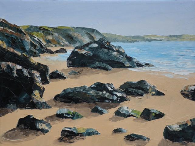 Gwyn Roberts, Llangrannog, Llanw isel / Llangrannog, Low Tide