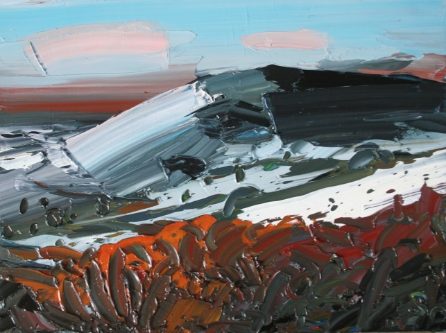 Sarah Carvell, Snow on the Bracken, Offa's Dyke