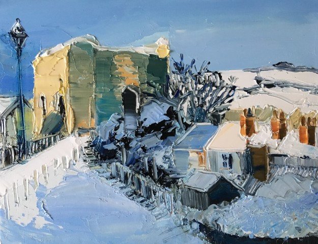 Sarah Carvell, Winters Morning, View of the Burgess Gate