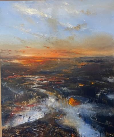 Iwan Gwyn Parry, Aberdyfi Sands at Sunset