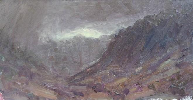 David Lloyd Griffith, Rain moving into Dyffryn Ogwen