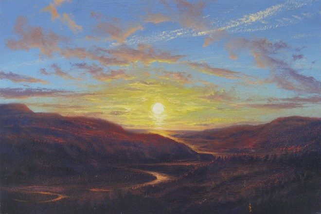 Gerald Dewsbury, Sunset over Afon Mawddach