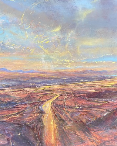 Iwan Gwyn Parry, The Distant Mountains of Mourne from Skerries