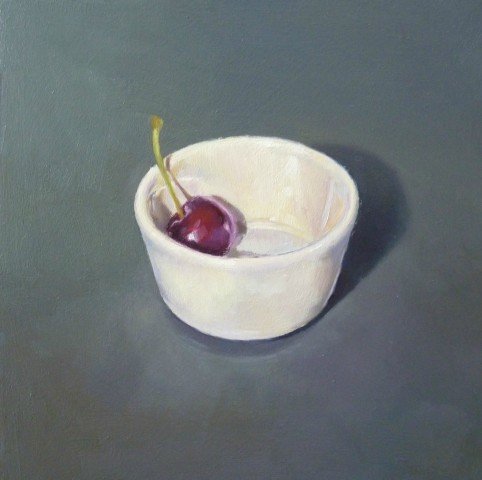 James Guy Eccleston, Cherry and Porcelain Bowl