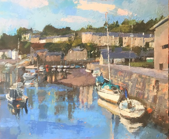 Anne Aspinall, Porthmadog, Blue Skies