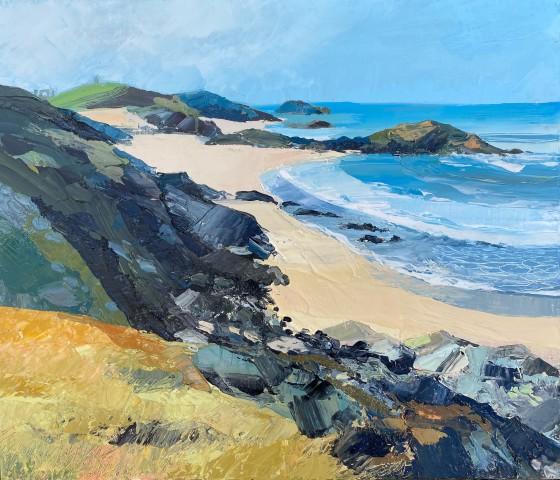 Sarah Carvell, Llanddwyn Island with Distant Ruin