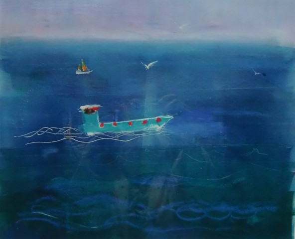 Anne Aspinall, Sailing - Blue Green Boat