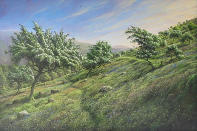 Gerald Dewsbury, Spring Hawthorne above Cwm Penmachno