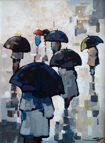 Stephen John Owen, Rainy Day Shoppers