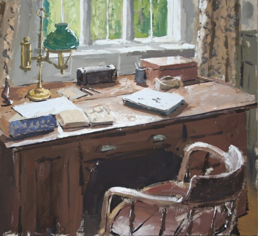 Matthew Wood, Desk with Sketchbook