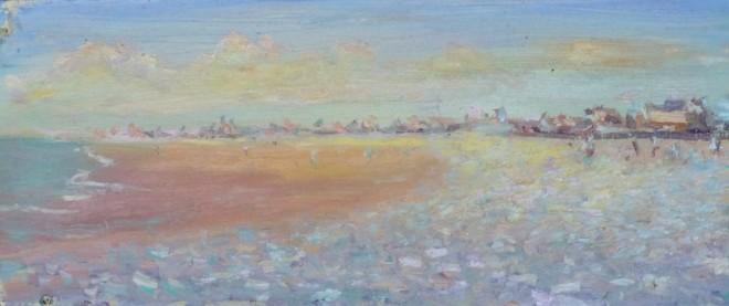 David Lloyd Griffith, Sunny Autumn Day - Pensarn Beach