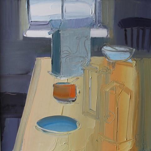 Sarah Carvell, Breakfast Table, Orange Sugar Bowl