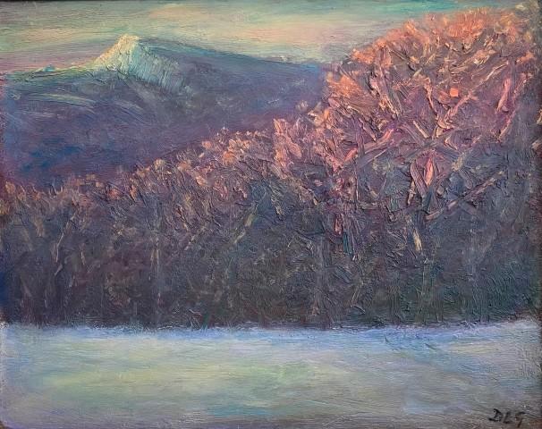 David Lloyd Griffith, Frosty Winter Evening - Dyffryn Dulas