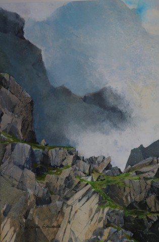Malcolm Edwards, Dissipating Mist, Cwm Glas Mawr