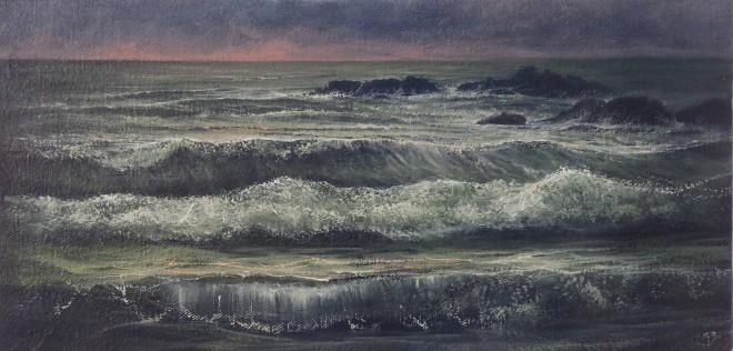 Gerald Dewsbury, Rocks at Porth Nobla