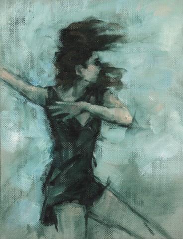 Carl Chapple, 'Juliet' - Danila Marzilli rehearsing Romeo & Juliet (Ballet Cymru Rehearsal 168)