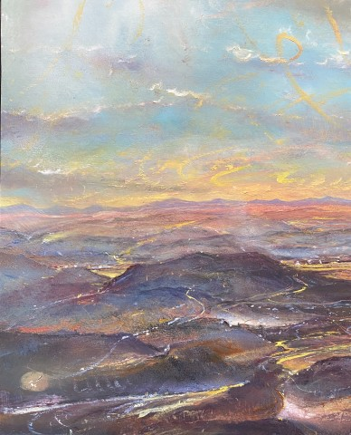 Iwan Gwyn Parry, The Distant Mourne Mountains from Wicklow Hills