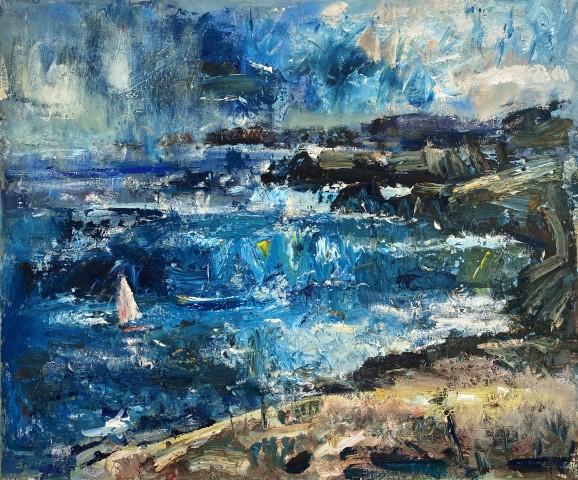 Gareth Parry, Cawodydd Ebrill dros Enlli / April Showers over Enlli (Bardsey Island)