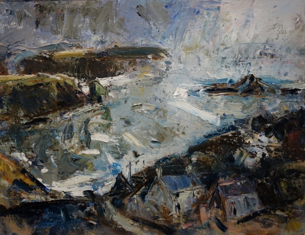 Gareth Parry, Farm by the Sea, Winter / Fferm ger y Môr, Gaeaf