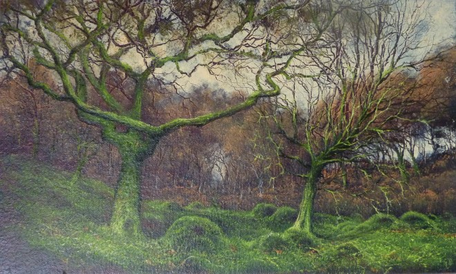 Gerald Dewsbury, Two Trees in a Wood, Tir Stent