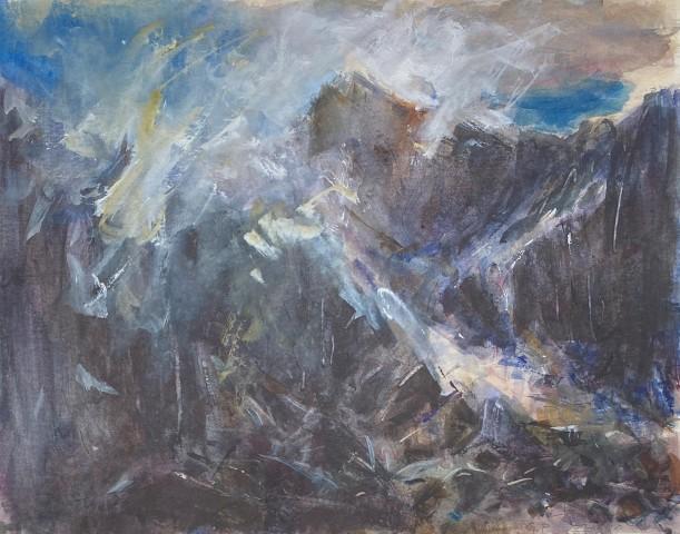 Gareth Parry, Cymylau yn Codi, Nant Peris / Clouds Lifting, Nant Peris