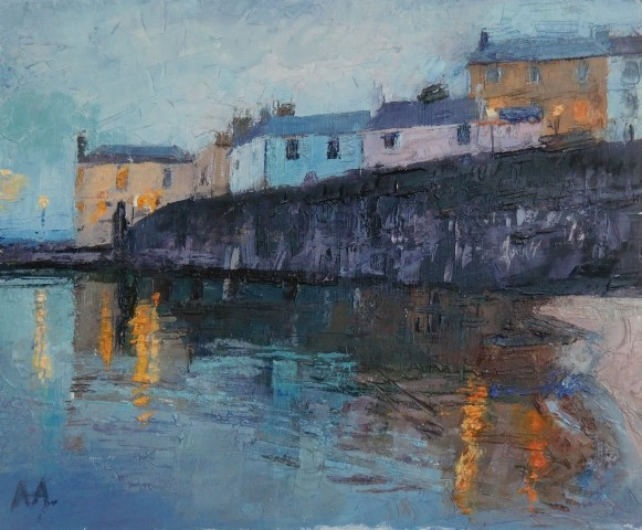 Anne Aspinall, Lighting Up, Tenby Harbour