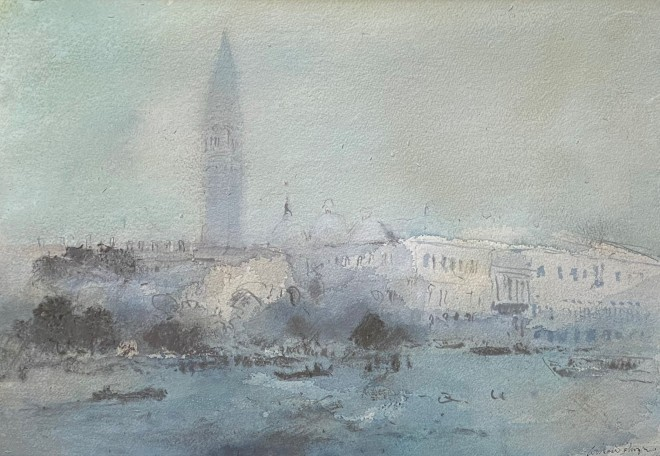 William Selwyn, The Campanile from the Dogana