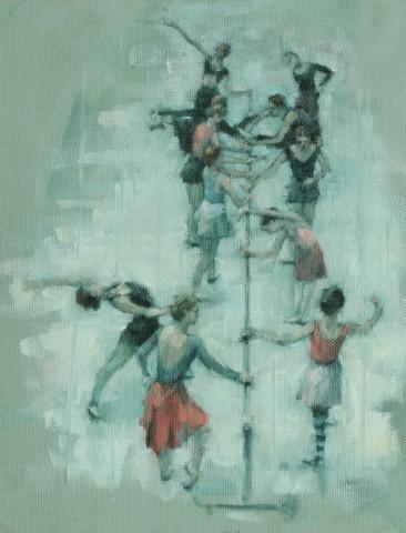 Carl Chapple, Preparing for Class (Ballet Cymru Summer School)