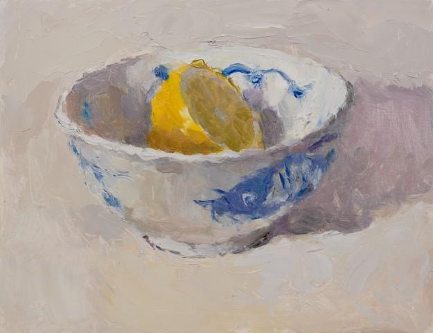 Lynne Cartlidge, Lemon Half in a Chinese Bowl IV