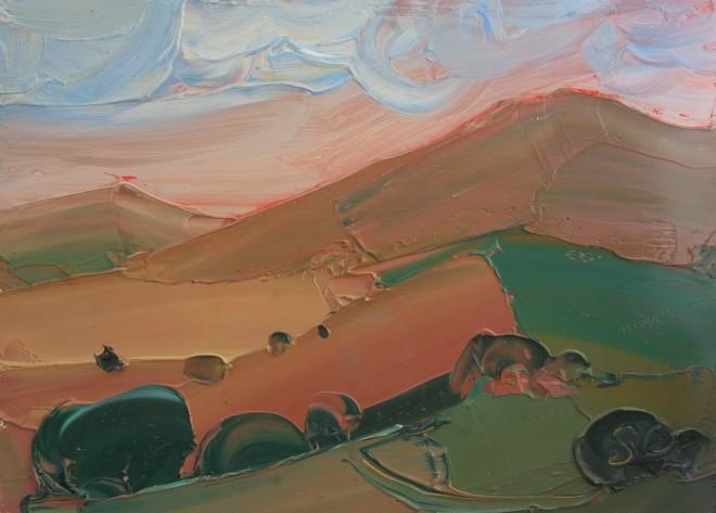 Sarah Carvell, Golau Pinc a Cymylau / Pink Light and Clouds
